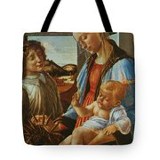 Madonna And Child With An Angel Tote Bag
