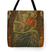 Madonna And Child With Five Angels Tote Bag