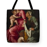 Madonna And Child With Saint Elizabeth And Saint John The Baptist Tote Bag