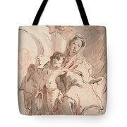 Madonna And Child With Saint Tote Bag