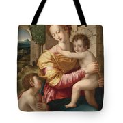 Madonna And Child With Saint John The Baptist Tote Bag