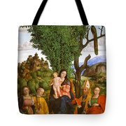 Madonna And Child With Saints Tote Bag