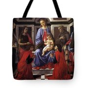 Madonna And Child With Six Saints Tote Bag