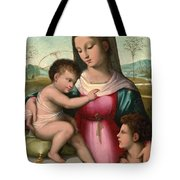Madonna And Child With The Infant Saint John The Baptist Tote Bag