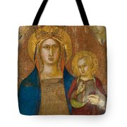 Madonna And Child With Two Angels Tote Bag