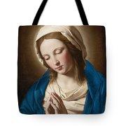 Madonna At Prayer Tote Bag