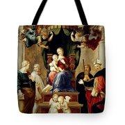 Madonna Del Baldacchino Raffaello Sanzio Da Urbino Raphael Raffaello Santi Tote Bag