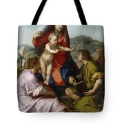 Madonna Della Scala. Virgin Of The Stairs Tote Bag