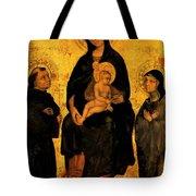 Madonna In Gloria Between Saint Francis And Santa Chiara Gentile Tote Bag