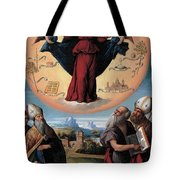 Madonna In Glory And Holy Hones Tote Bag