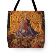 Madonna Of Humility With Christ Child And Angels Tote Bag