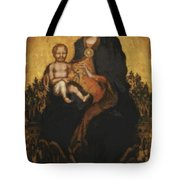 Madonna With Angels 1410 Tote Bag