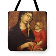 Madonna With Child Tote Bag