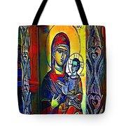 Madonna With The Child - My Www Vikinek-art.com Tote Bag
