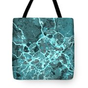 Madrid Abstract Map, Blue Traffic Map, Europe Tote Bag