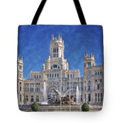 Madrid City Hall Tote Bag by Joan Carroll