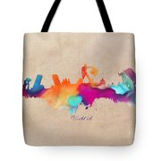 Madrid Skyline  Tote Bag