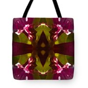 Magent Crystal Flower Tote Bag