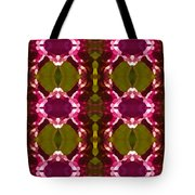 Magenta Crystal Pattern Tote Bag by Amy Vangsgard