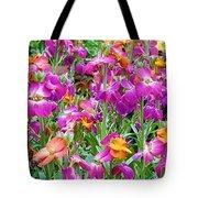 Magenta Floral Pattern Tote Bag