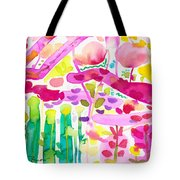Magenta Garden In The Afternoon Tote Bag