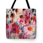 Magenta May Flowers Tote Bag