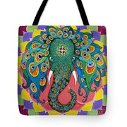 Magic Elephant Tote Bag by Galina Bachmanova