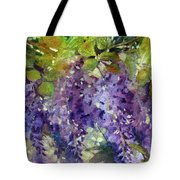 Magic In Purples And Greens Tote Bag