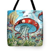 Magic Mushroom Forest Tote Bag