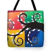 Magic Of Black With The Colourful Lake  Tote Bag