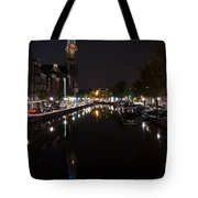 Magical Amsterdam Night - Blue Crown Skyline Tote Bag