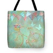 Magical Bicycle Tour Enchanted Happy Art Tote Bag