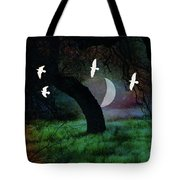 Magical Forest Night Tote Bag