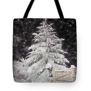 Magical Nighttime Snow Tote Bag