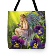 Magical Pansies Tote Bag