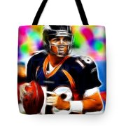 Magical Peyton Manning Borncos Tote Bag