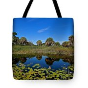 Magical Pond With Water Lilies Tote Bag