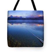 Magical Sunrise Along Sawtooth Mountain Range Stanley Idaho Tote Bag