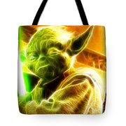 Magical Yoda Tote Bag by Paul Van Scott