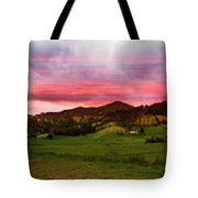 Magnificent Andes Valley Panorama Tote Bag
