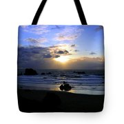 Magnificent Bandon Sunset Tote Bag