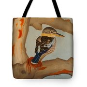 Magnificent Blue-winged Kookaburra Tote Bag by Brian Leverton