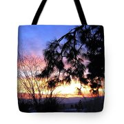 Magnificent Winter Sky Tote Bag
