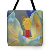 Magnolia Abstract Tote Bag