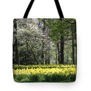 Magnolia And Daffodils Tote Bag