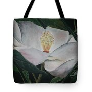Magnolia Flower Oil Painting Tote Bag