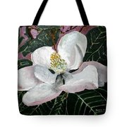 Magnolia Flower Painting Tote Bag