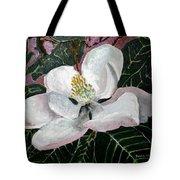 Magnolia Flower Painting Tote Bag