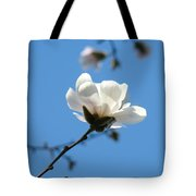Magnolia Flower Tree Art Prints Blue Sky Floral Baslee Troutman Tote Bag