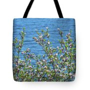 Magnolia Flowering Tree Blue Water Tote Bag